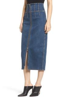 Current/Elliott The Trilby Bead Detail Pencil Skirt