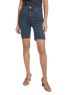 Current/Elliott The Truby Virens Denim Shorts in Superba Cut Hem