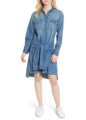 Current/Elliott The Twist High/Low Denim Shirtdress