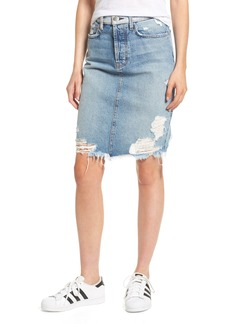 Current/Elliott The Ultra High Waist Denim Skirt