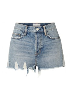 Current/Elliott The Ultra High Waist Distressed Denim Shorts