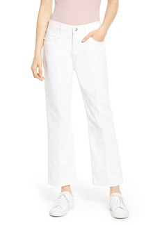 Current/Elliott The Vanessa Ankle Straight Leg Jeans (White Out)