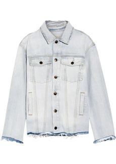 Current/Elliott The Vintage Boyfriend Trucker distressed denim jacket