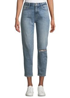 Current/Elliott The Vintage Cropped Straight-Leg Jeans