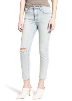 Current/Elliott The Vintage High Waist Crop Skinny Jeans (Century Destroy)