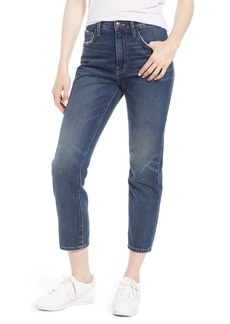 Current/Elliott The Vintage High Waist Crop Slim Jeans (1 Year Worn Rigid Indigo)