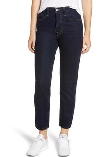 Current/Elliott The Vintage High Waist Crop Slim Jeans (Clean Rigid Indigo)