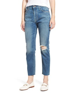 Current/Elliott The Vintage High Waist Crop Slim Jeans (Love Destroy)