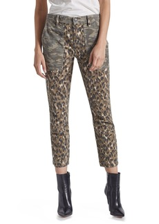 Current/Elliott The Weslan Mixed-Print Cropped Pants