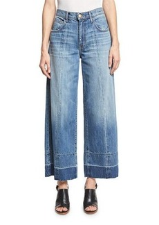Current/Elliott The Wide Leg Crop Jeans w/Released Hem