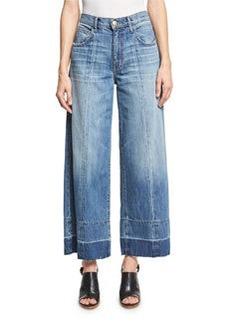 Current/Elliott The Wide Leg Crop Jeans w/Released Hem