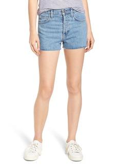 Current/Elliott Ultra High Waist Shorts (Prep with Cut Hem)