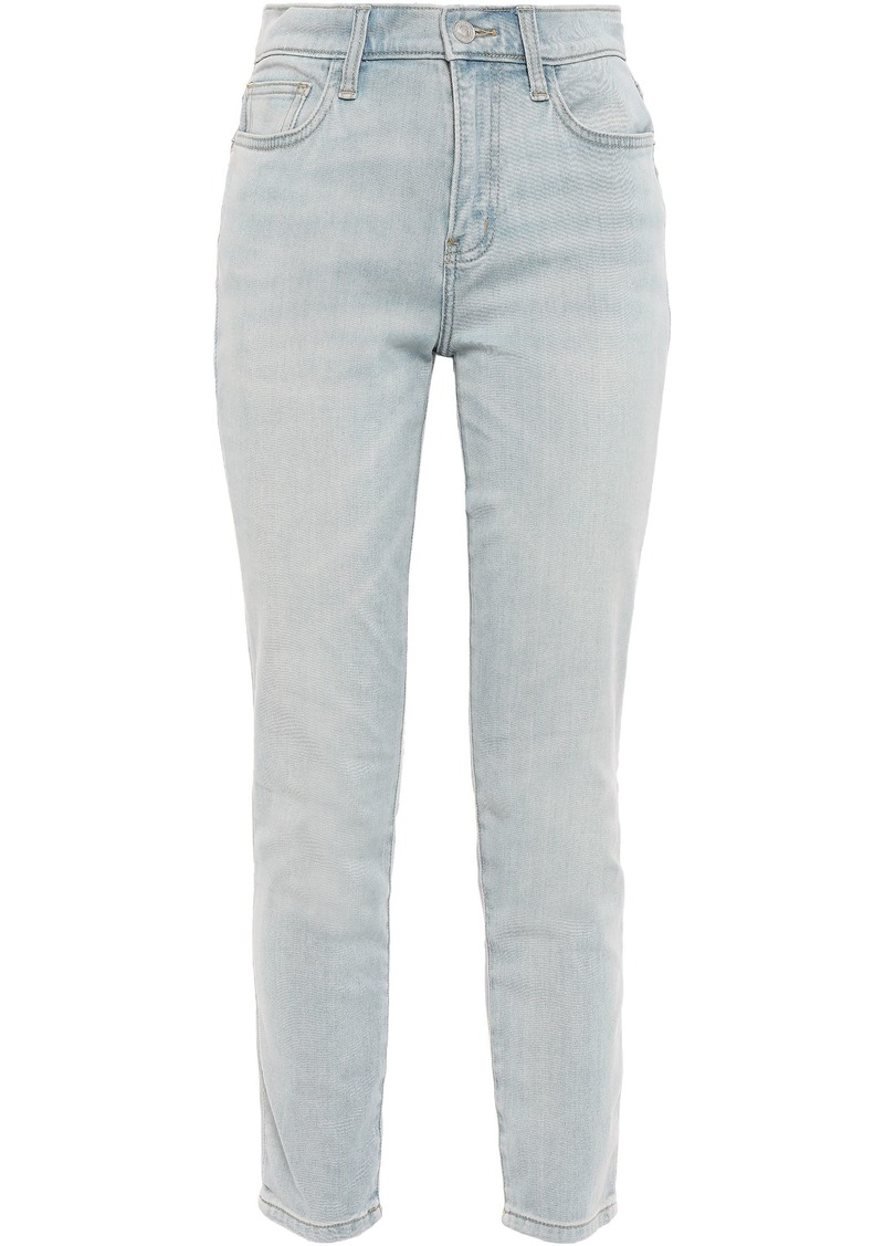 Current/elliott Woman Blue Wave High-rise Skinny Jeans Light Denim