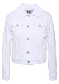 Current/elliott Woman Cropped Denim Jacket White