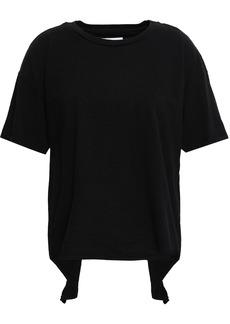 Current/elliott Woman Cutout Cotton-jersey T-shirt Black