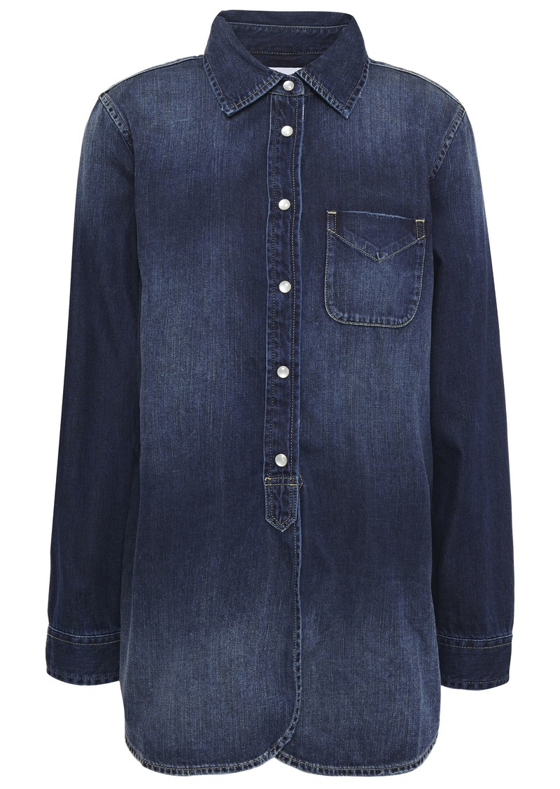Current/elliott Woman Denim Shirt Dark Denim