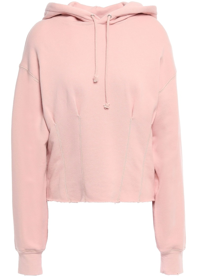 Current/elliott Woman French Cotton-terry Hoodie Pastel Pink
