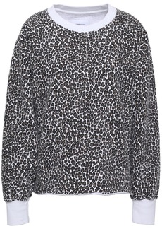 Current/elliott Woman Leopard-print Cotton-fleece Sweatshirt Animal Print