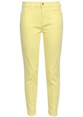 Current/elliott Woman Mid-rise Skinny Jeans Pastel Yellow