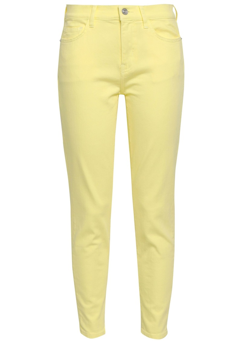 Current/elliott Woman Mid-rise Skinny Jeans Pastel Yellow