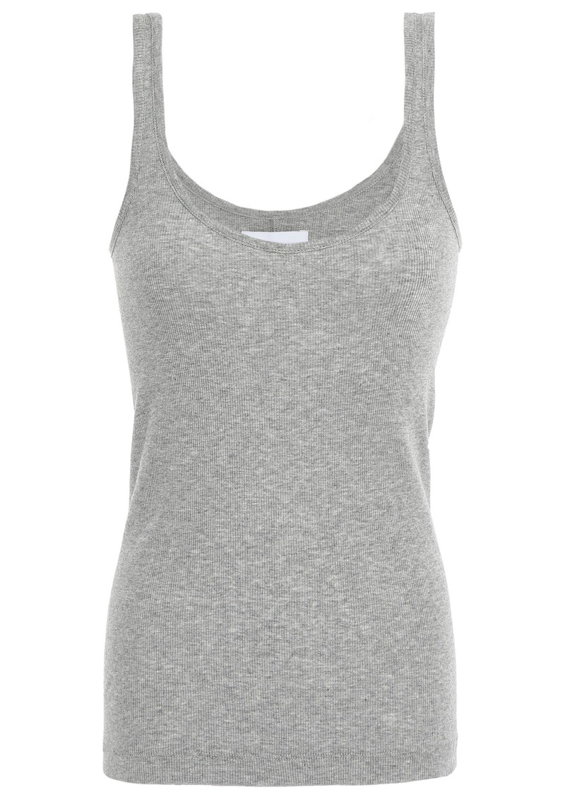 Current/elliott Woman Mélange Pima Cotton And Modal-blend Tank Gray