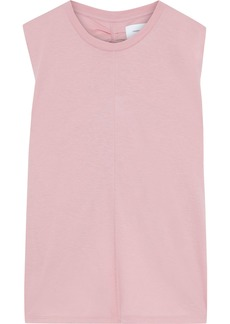 Current/elliott Woman Ruched Slub Pima Cotton-jersey Tank Baby Pink