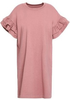 Current/elliott Woman Ruffle-trimmed Cotton-jersey Mini Dress Antique Rose