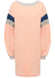 Current/elliott Woman Stolen Kiss Striped Cotton-jersey Mini Dress Peach