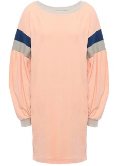 Current/elliott Woman Stolen Kiss Striped Cotton-jersey Mini Dress Peach