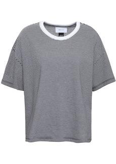 Current/elliott Woman Striped Cotton-blend Jersey T-shirt Black
