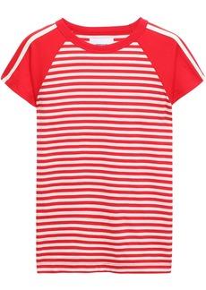 Current/elliott Woman Striped Cotton-jersey T-shirt Red