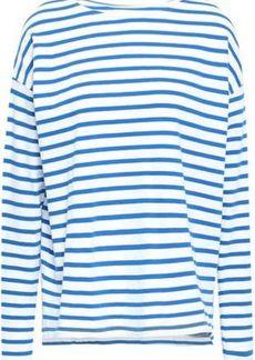 Current/elliott Woman Striped Cotton-jersey Top White