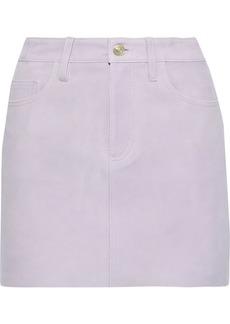 Current/elliott Woman The 5-pocket Suede Mini Skirt Lilac