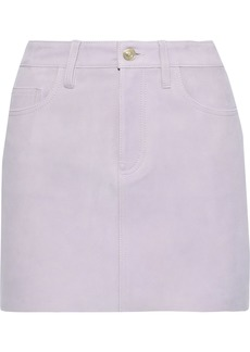 Current/elliott Woman The 5-pocket Suede Mini Skirt Lilac