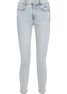 Current/elliott Woman The 7-pocket Cropped Mid-rise Skinny Jeans Light Denim