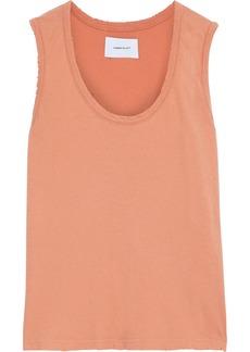 Current/elliott Woman The Adonis Distressed Cotton-jersey Tank Orange