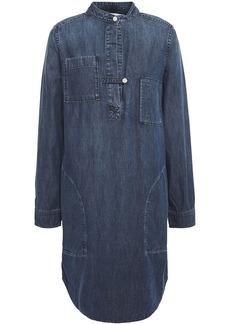 Current/elliott Woman The B50 Denim Mini Shirt Dress Mid Denim