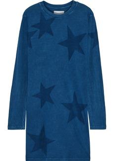 Current/elliott Woman The Beatnik Printed Cotton-jersey Mini Dress Blue