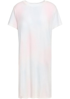 Current/elliott Woman The Beatnik Tie-dyed Cotton-jersey Mini Dress Off-white