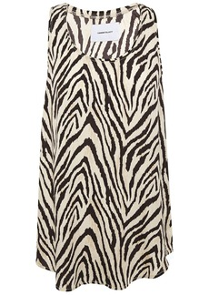 Current/elliott Woman The Bermuda Zebra-print Twill Tank Animal Print