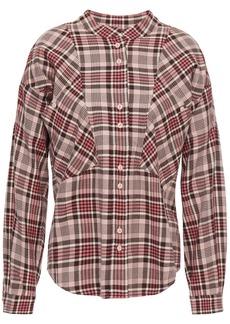 Current/elliott Woman The Bixa Checked Cotton Shirt Pink