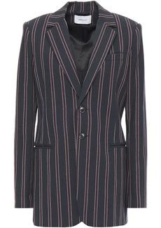 Current/elliott Woman The Calla Striped Cotton-twill Blazer Navy