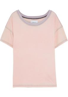 Current/elliott Woman The Desert Days Slub Cotton-jersey T-shirt Peach