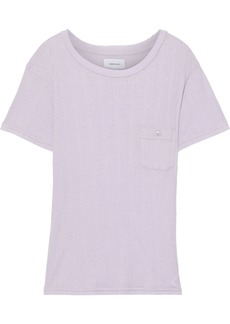 Current/elliott Woman The Heather Ribbed Jersey T-shirt Lilac
