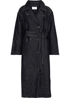 Current/elliott Woman The Hh Club Belted Denim Trench Coat Dark Denim