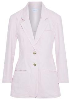 Current/elliott Woman The Highball Cotton-twill Blazer Pastel Pink