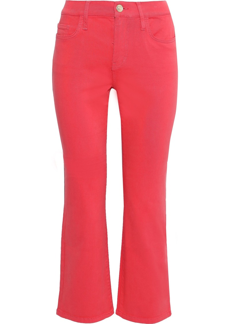Current/elliott Woman The Kick High-rise Kick-flare Jeans Coral