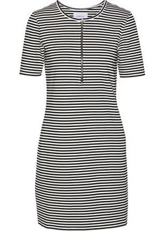 Current/elliott Woman The Leighton Striped Stretch-knit Mini Dress White