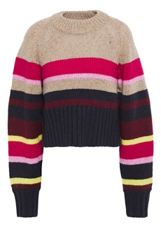 Current/elliott Woman The Moonshine Striped Knitted Sweater Multicolor