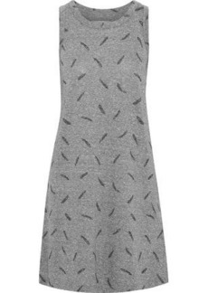 Current/elliott Woman The Muscle Tee Printed Jersey Mini Dress Gray